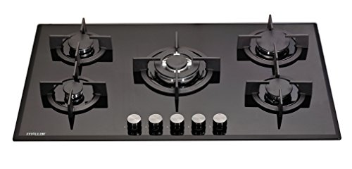 MILLAR GH9051PB 90cm Built-in 5 Burner Gas on Glass Hob / Cooker / Cooktop with FFD