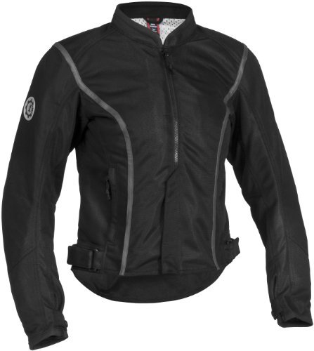 Firstgear Contour Mesh Women's Textile Motorcycle Jacket (Black, X-Small)