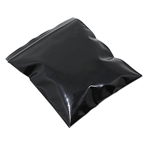 50 Pcs Multi-sizes Black Ziplock Grip Seal 5.1mil Plastic Retail Package Bags Zip Lock Resealable Packaging Pack Zipper Pouches (17x25cm (6.7