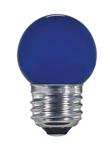 Satco S9162 LED S11 Ceramic Blue Medium Base Light Bulb, 1.2W