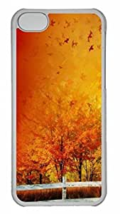 Beautiful Autumn Colors Gradient Protective Hard Plastic Back Fits Cover Case for iphone 5C Transparent-1122093