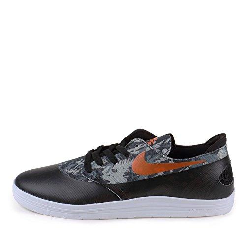 Nike Mens Lunar Oneshot SB WC World Cup Black/Safety Orange Synthetic Size 7
