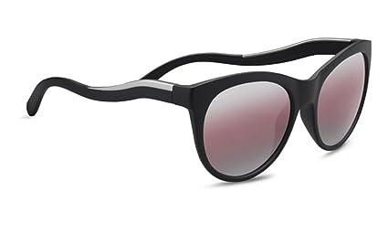 50ff93b5bfb Amazon.com   Serengeti Valentina Sunglasses Satin Black Satin Silver ...