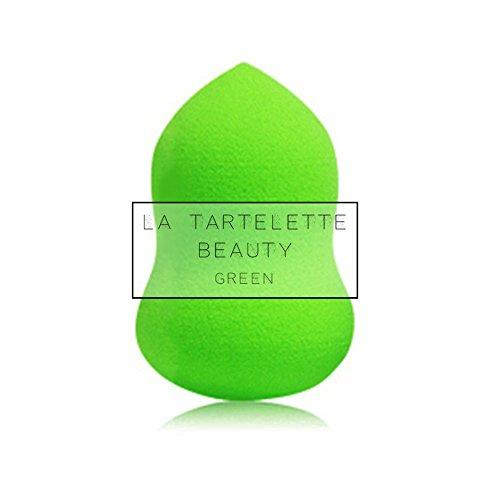 La Tartelette 1 Pc Premium Makeup Blender Sponge - Flexible & Versatile Foundation Applicator Accessory for Powder, Concealer and Foundation Applicator - Green Foundation Powder