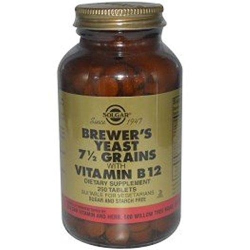 Solgar - Brewer's Yeast 7 1/2 Grains with Vitamin B12, 250 Tablets, 3 Bottle Pack