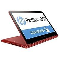 2017 HP Pavilion 2-in-1 15.6 FHD IPS UWVA WLED-backlit Touchscreen Laptop PC, Intel Core i5-7200U 2.5GHz, 8GB RAM, 1TB HDD, Backlit Keyboard, Bluetooth, Webcam, WIFI, HDMI, Windows 10, Red
