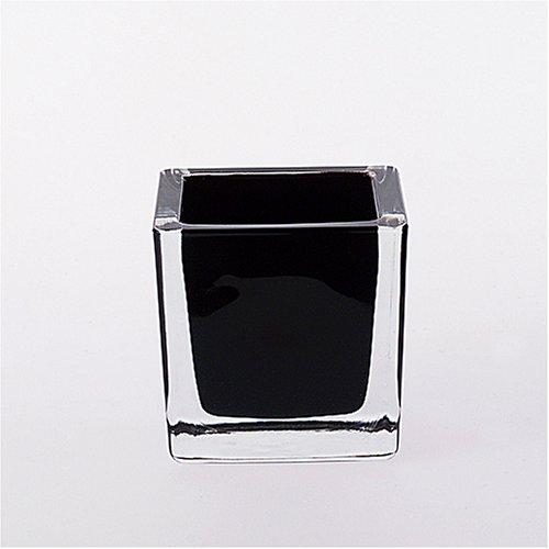 LEONARDO  Tischlicht Cube schwarz 8 cm