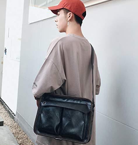 Messenger Small para Fashionablre de Bolso Business Bag Cross Mensajero maletín Durable el Trabajo Bolsa la Bag ZHRUI Negro Body Hombres de qt5xTT