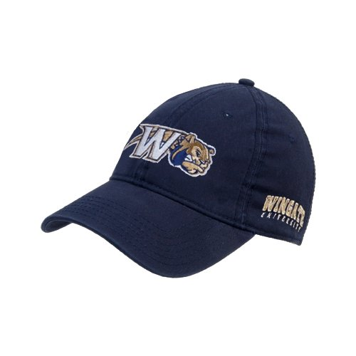 Wingate Navy Twill Unstructured Low Profile Hat 'Bulldog w/W Swoosh' (Wingate Bulldogs compare prices)