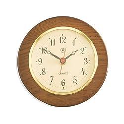 Bey-Berk International Brass Clock on Cherry Wood - Tarnish Proof