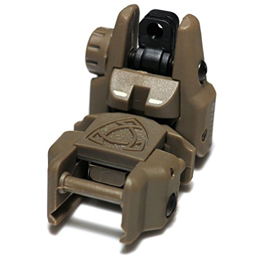 Airsoft Wargame Tactical Shooting Gear APS GG039D Rhino Auxiliary Flip Up Rear Sight Desert Tan Brown by Airsoft Storm