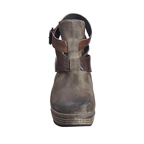 Antelope Womens 835 Suede Open Strap wrap Grey cCtoK