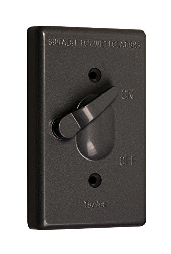 TayMac TC100Z Weatherproof Toggle Cover, 1-Gang, Vertical Device Mount, Bronze