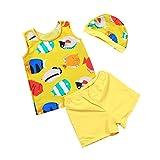 Baby Toddler Boy Two-Pieces Swimsuit Kid Swimwear Swim Hat Yellow M