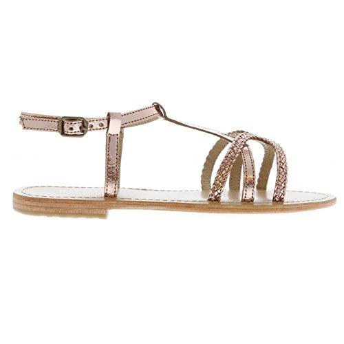 Blackseal Gold Iris 37 Sandals Womens Lthr 4 Firetrap Braid Rose Flat UK a0fwg