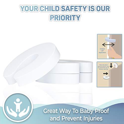 41BN9G0d5BL Tough Door Pinch Guards (6-Pack) Slick Design, Child Safety, Finger Pinch Protectors.    Product Description