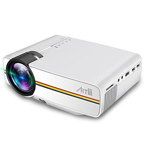 Portable pico projector artlii home theater projector for Portable video projector