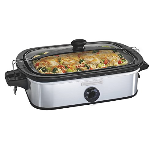 Cheap Hamilton Beach 33444 Casserole Slow Cooker, Silver