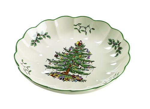 Spode Christmas Tree 8-Inch Round Fluted Dish ()