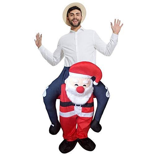 Disfraz de Papá Noel para Adulto con Texto en inglés Carry Me Ride ...