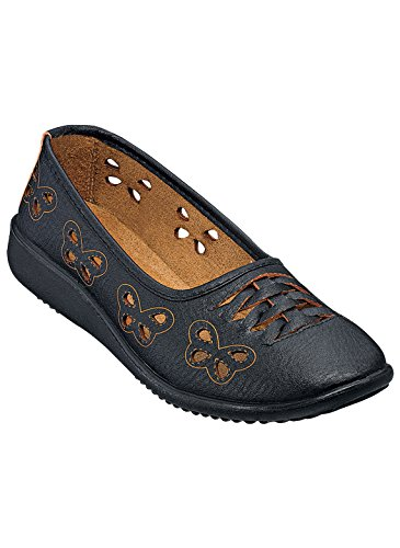 Carol Wright Gifts Butterfly Flats Black