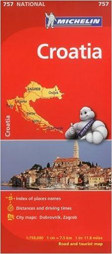 Michelin Croatia Road and Tourist Map Michelin Maps Amazoncouk