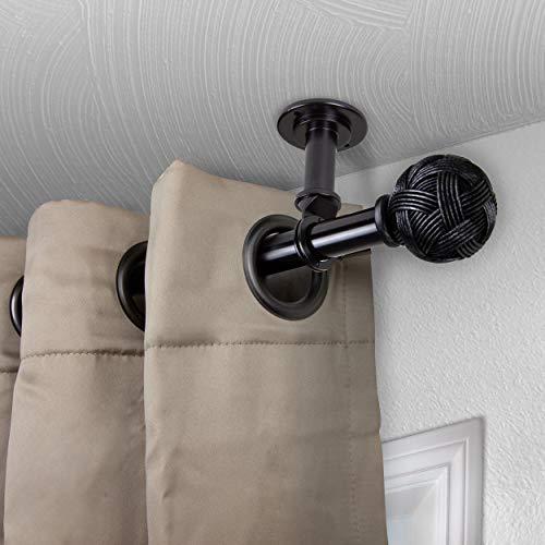Rod desyne twine curtain rod 48-84 inch black