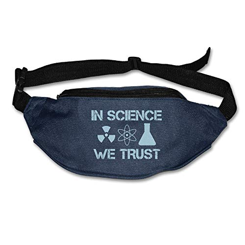 Ada Kitto In Science We Trust Mens&Womens Sport Style Waist Pack For Running And Cycling Navy One Size by Ada Kitto
