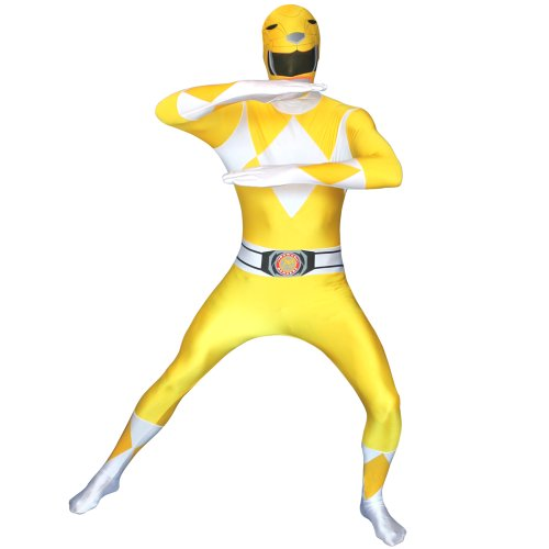 Official Power Ranger Morphsuit Costume,Yellow,Small 4'6