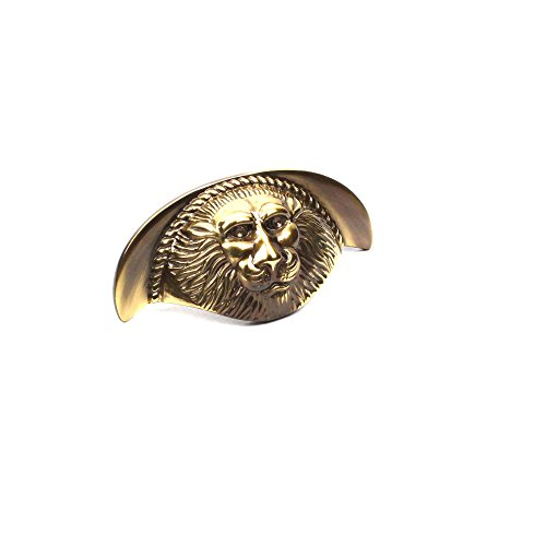 """Century Classic Brass Roman Lion 3""""c.c. Cup Pull (10-Pack, Polished Antique)"""