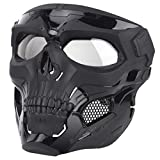 9. IDEKO Airsoft Skull Mask, Skull Full Face Protective Masks Tactical Mask for Airsoft CS Wargame Halloween Cosplay Party