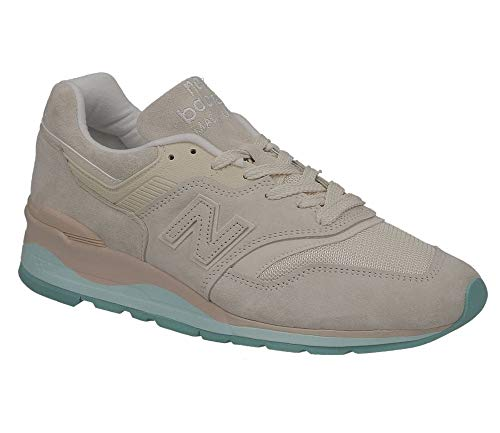 New Balance Men's 997v1 Made in The USA Sneaker, TAN/Blue, 9.5 D US