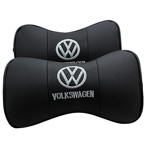 fit jeep Auto Sport 2 PCS Genuine Leather Bone-Shaped Car Seat Pillow Neck Rest Headrest Comfortable Cushion Pad