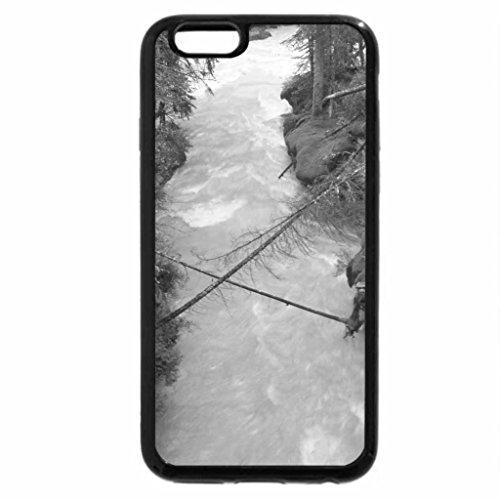 iPhone 6S Case, iPhone 6 Case (Black & White) - Rapid River Johnston Canyon Banff Alberta 9