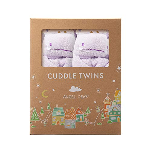 (Angel Dear Cuddle Twin Set, Purple Hippo)