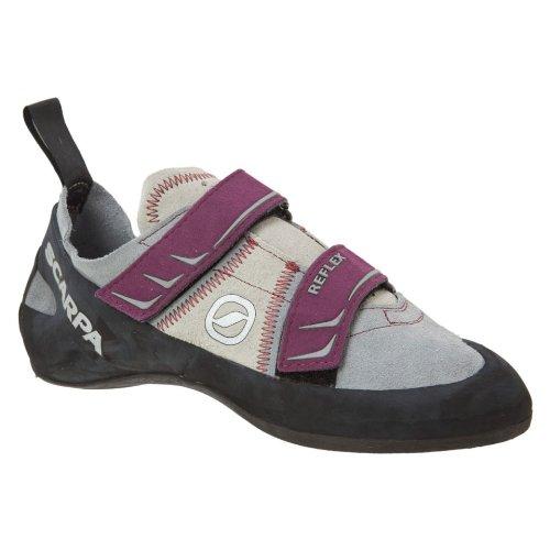 Scarpa Women's Reflex Climbing Shoe,Pewter/Plum,36.5 EU/5.6 M US
