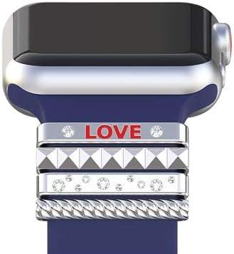 JWJY 超薄型ステンレス鋼の様々なブランド時計バンドのための適切なストラップ 男性/女性 (Band Color : Silver, Band Width : 38mm 40mm)