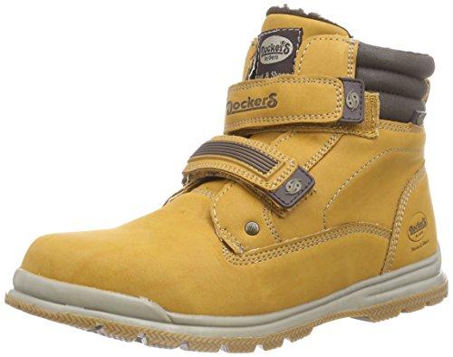 Dockers by Gerli 37WA712-650300 Unisex-Kinder Combat Boots Gelb (golden tan 910)