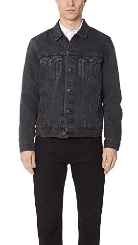 Levis Red Tab Men's Trucker Jacket, Grey, Large