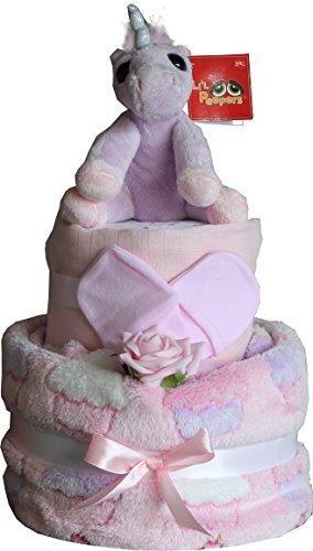 Baby Madchen Magische Windel Torte Lila Einhorn Und Cupcakes Design