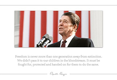 Ronald Reagan Poster Photo Picture Framed Quote