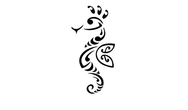 Tatuaje de Caballito de mar de paciencia, etiqueta de vinilo pared ...