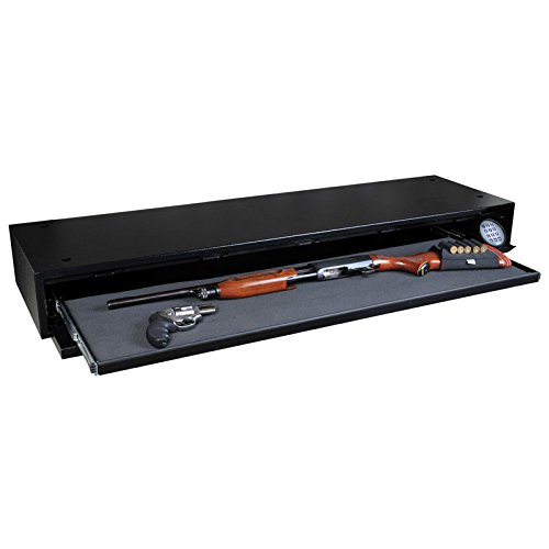 "Stealth Defense Vault DV652 Under Bed Gun Safe + Free 52"" Dean Safe Rifle Sock"