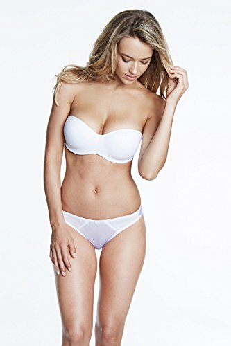 Dominique Seamless Strapless Bra, 34B, White (Convertible Bras Strapless Seamless)