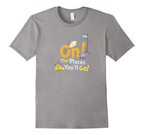 Dr. Seuss Oh The Places You'll Go (Kids Womens Pink T-shirt)