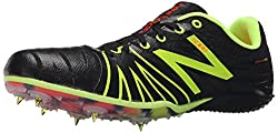 New Balance Men's MSD100V1 Track Spike Shoe, Black/Yellow, 12 D US