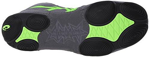 Asics Mens Jb Elite V2.0 Chaussure De Lutte Granit / Vert Gecko / Noir
