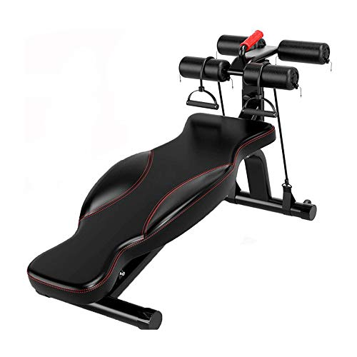 LLMLCF Gravity Folding Inversion, Table Butterfly Board Back sit-up - Fitness Equipment Home Multi-Function Dumbbell Bench Men's Abdominal Device for Pain Relief Therapy aid Exercise,Black