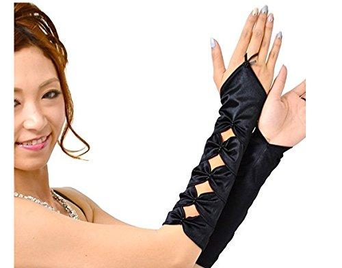 燃やす落とし穴ジョットディボンドンブライダル 指なし サテンリボン型 グローブ 手袋