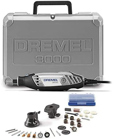 Dremel 3000-2/28 Variable Speed Rotary Tool Kit- 1 Attachments & 28 Accessories- Grinder, Sander, Polisher, Router, and Engraver- Perfect for Routing, Metal Cutting, Wood Carving, and Polishing